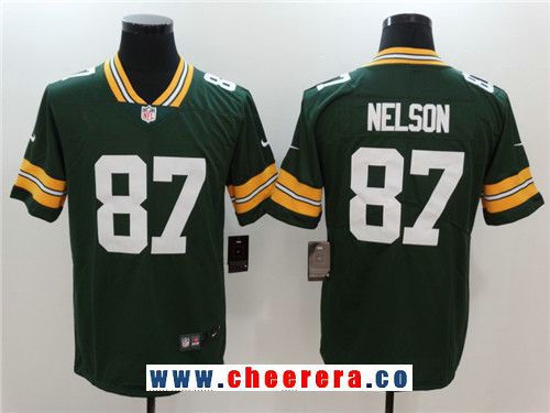 Men's Green Bay Packers #87 Jordy Nelson Green 2017 Vapor  supplier