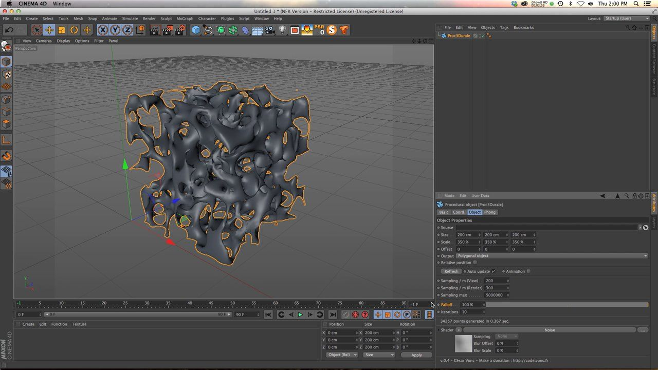 Cinema 4d Character Design Tutorials : C d tutorial how to use proc durale free plugin for