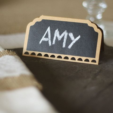 The Wedding Of My Dreams Blackboard Place Cards Set 10