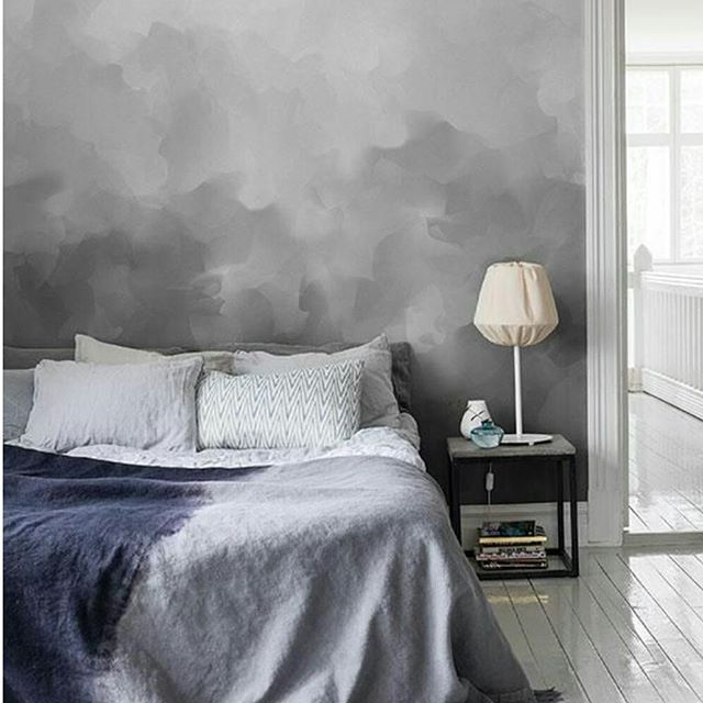 Mr perswall wallpaper could you dry brush this with paint bedroom moody grey walls - Small spaces george paint ...
