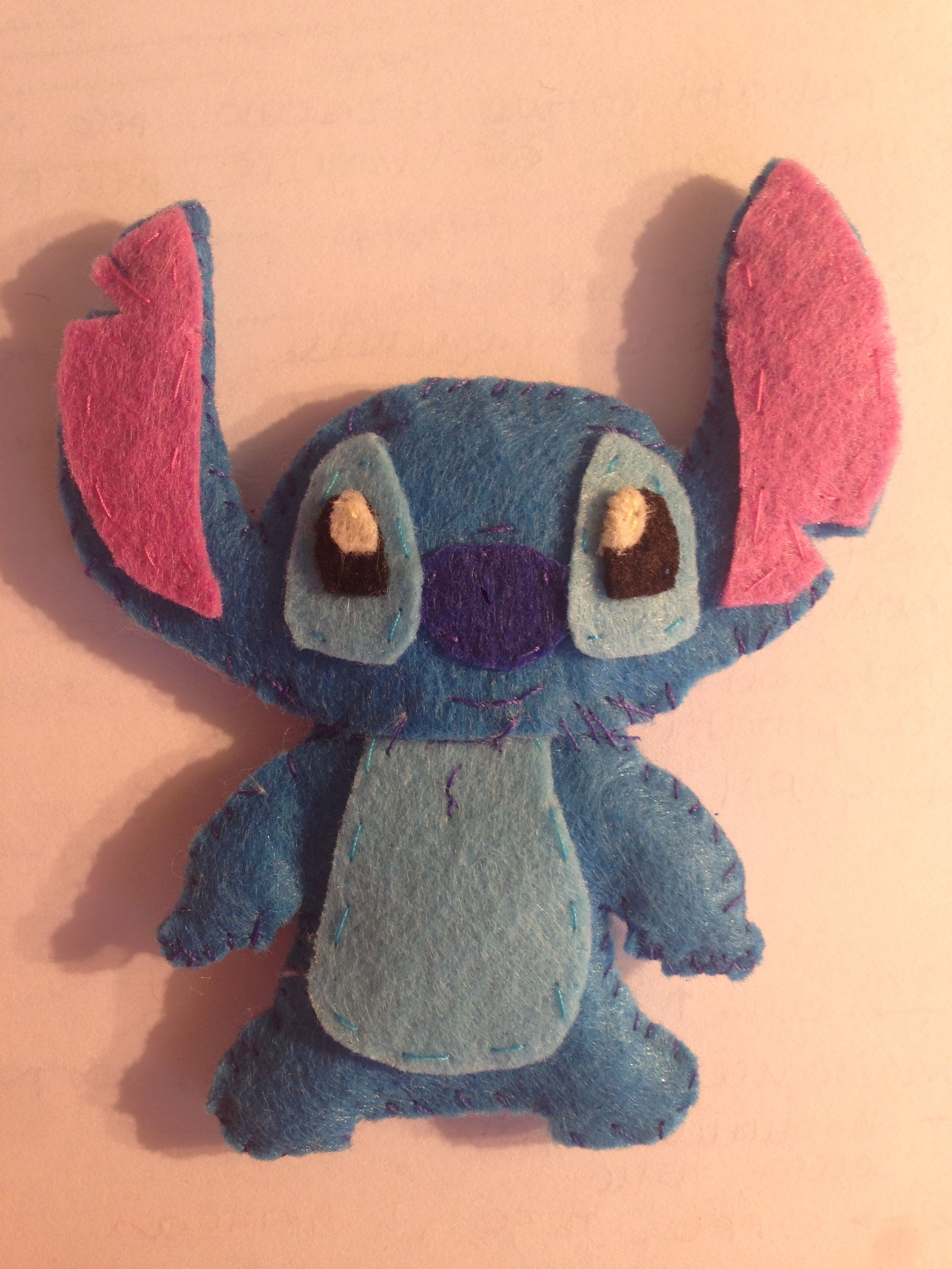 Stitch felt handmade, Lilo and Stitch, fieltro | Adornos | Pinterest