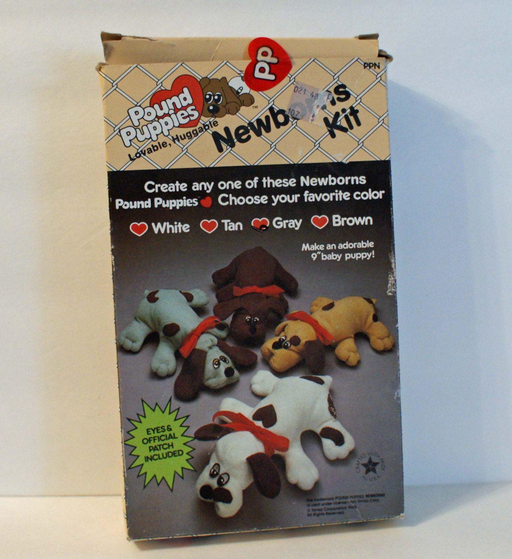 Pound Puppies Newborn Kit Gray Puppy Dog Kit plete Original