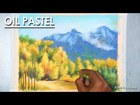 2 Oil Pastel Mountain Landscape Drawing Jungle Under The Mountains Youtube In 2020 Mountain Landscape Drawing Landscape Drawings Oil Pastel