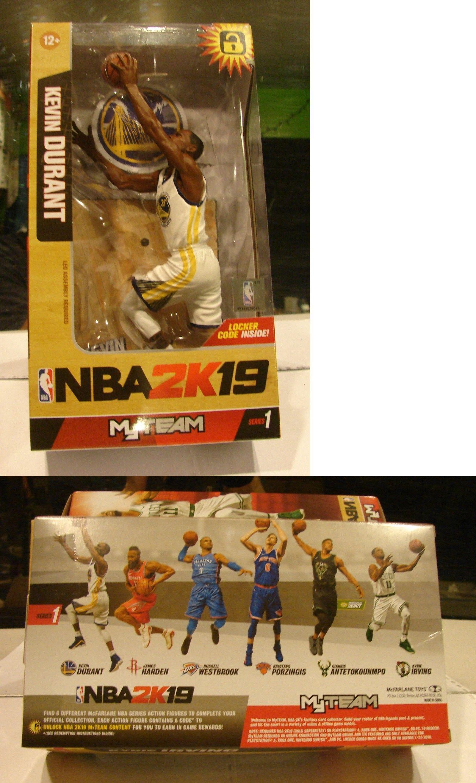 1bd669864226 Sports 754  Mcfarlane Nba2k19 Kevin Durant Golden State War Series 1 Locker  Code Inside New