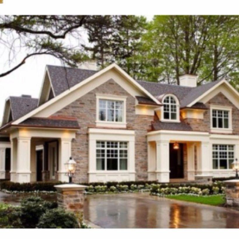 Brick Home Exterior Color Schemes: Exterior Paint Colors With Brown Brick 01
