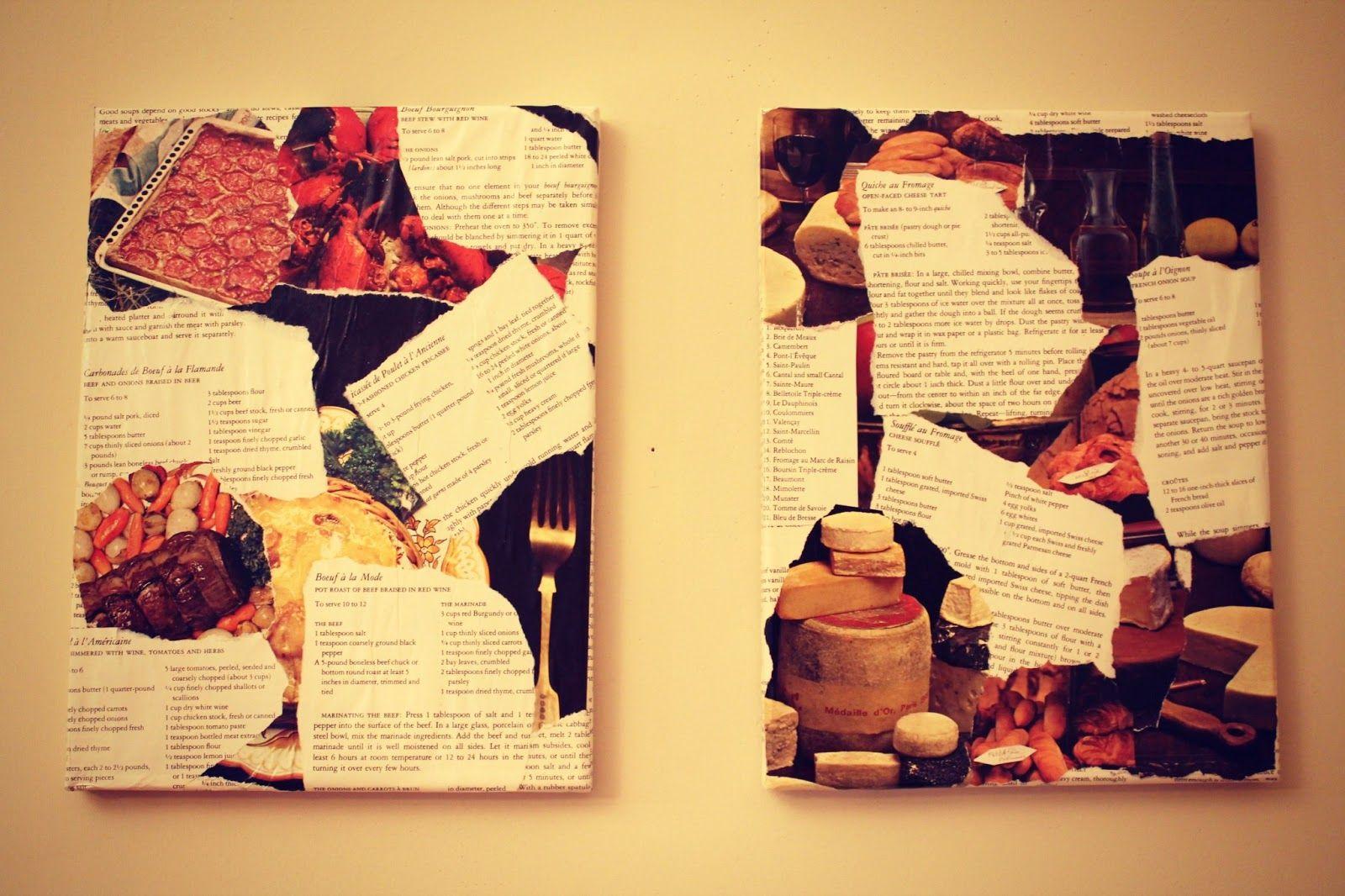 DIY Vintage Cookbook Kitchen Wall Art | CRAFTS: Gettin\' Crafty ...