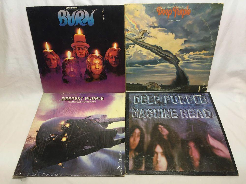 Deep Purple Lp Vinyl Record Lot Very Best Of Stormbringer Burn Machine Head Vinyl Records Deep Purple Vinyl