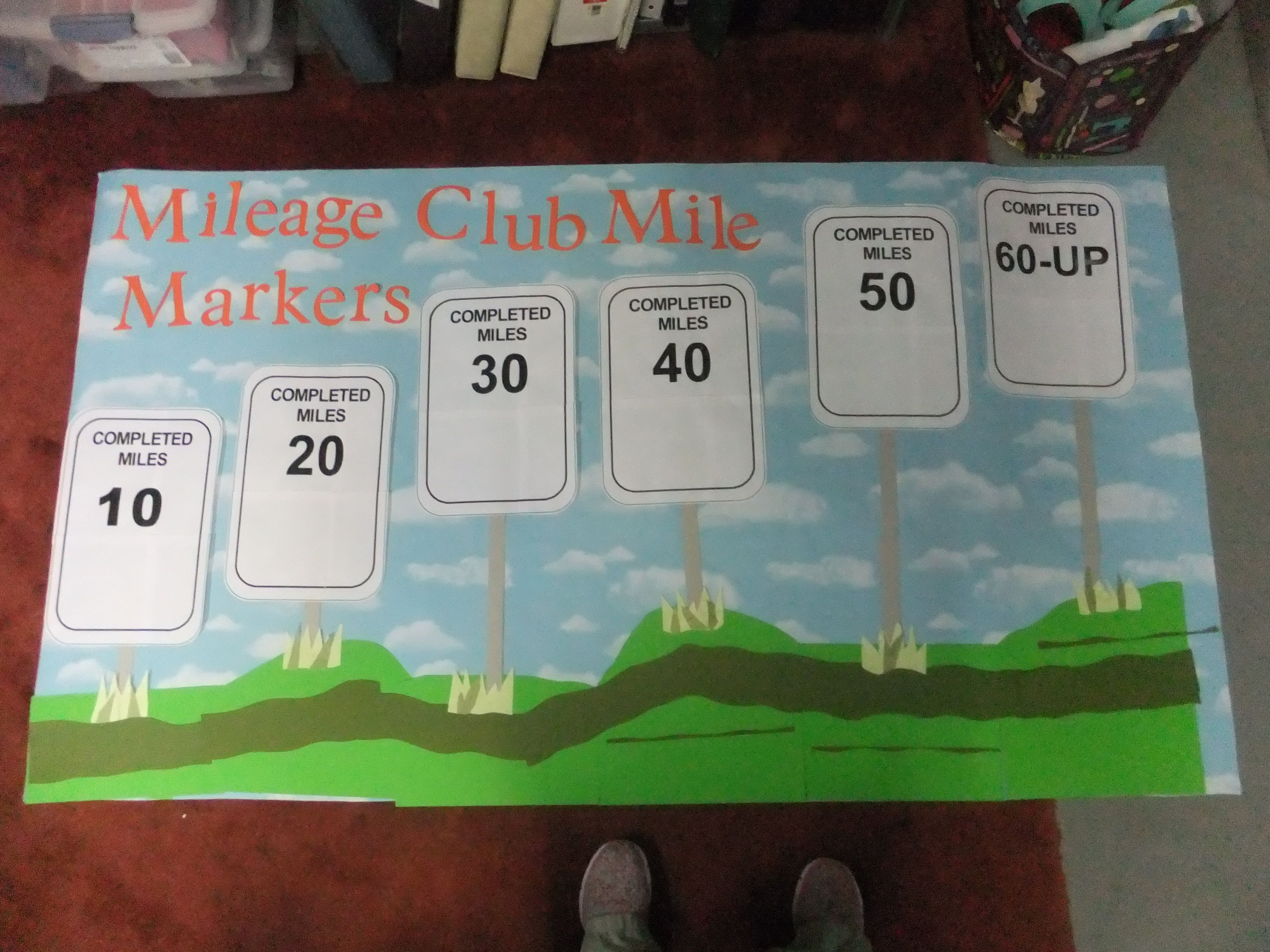 keeping track of students miles as they walk mileage club