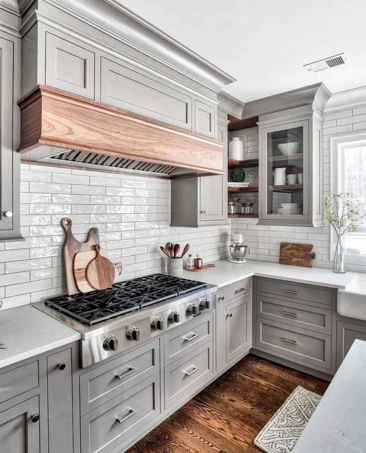 54 awesome gray kitchen cabinet design ideas