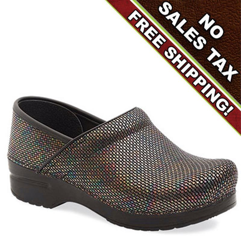 Dansko Multi Embossed Leather Clog Free Shipping OH MY