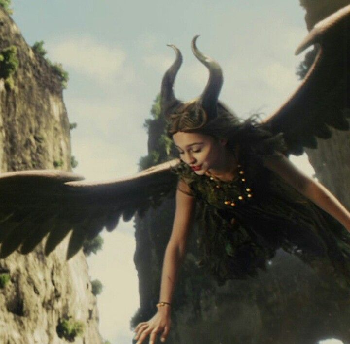 Young Maleficent Flying Over The Moors Diy Young