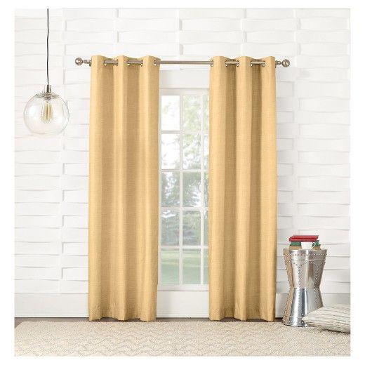Haverhill Thermal Linen Curtain Panel Sun Zero Grommet Curtains Curtains Panel Curtains