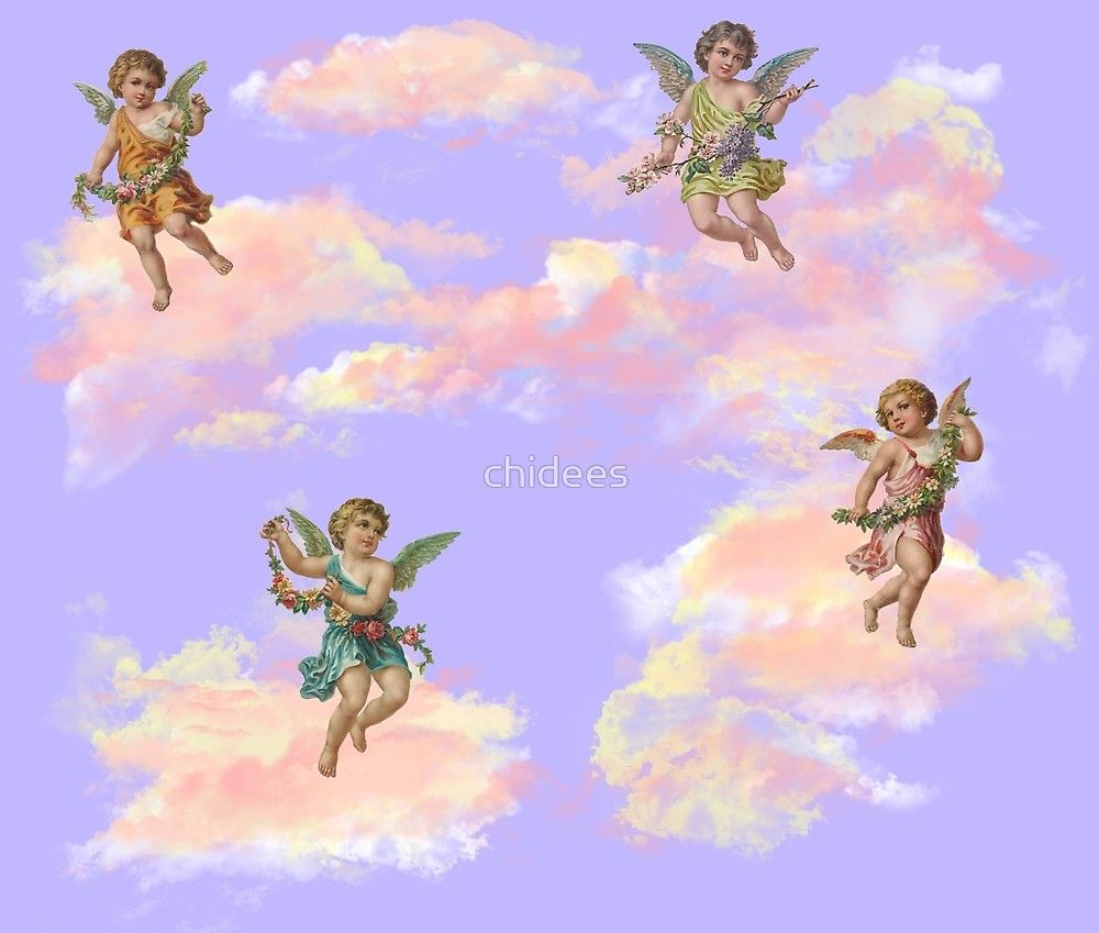 Little Angels Aesthetic By Chidees Redbubble Cupid Aesthetic Love Flower Pastel Tumblr Skin Iphone Shirt Angel Aesthetic Aesthetic Drawing Angel Wallpaper