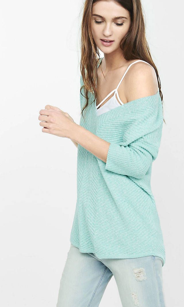 Express Marbled Rib Tunic Sweater (5 Colors) $17.99 (express.com)