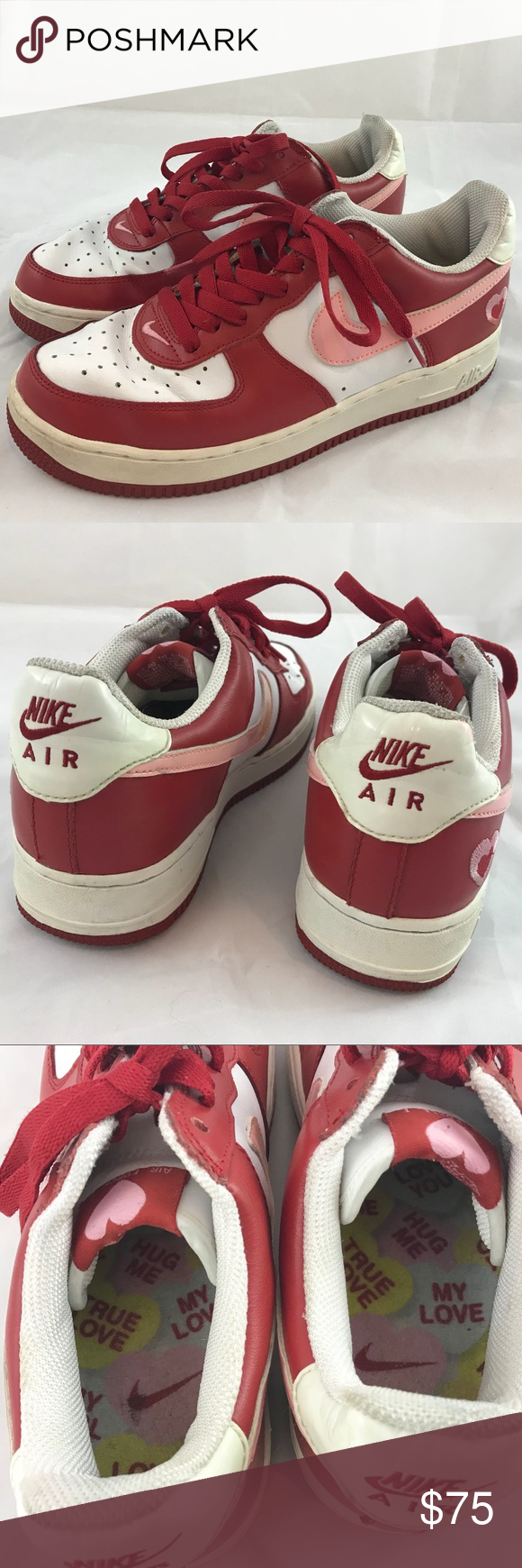 Nike Air Force 1 Low V Day White Pink Red Sz 9 Nike Low Top