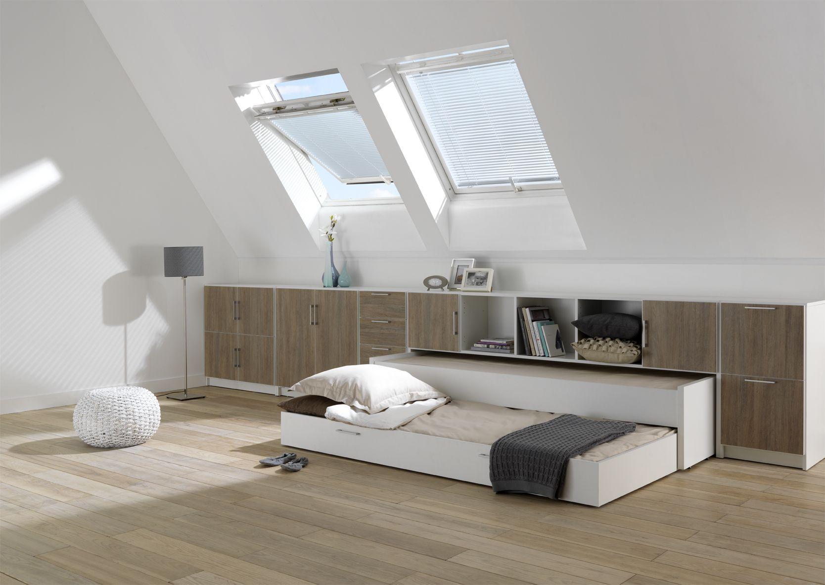Een mooie strakke True Plexat slaapkamer op zolder. - Mooie ...