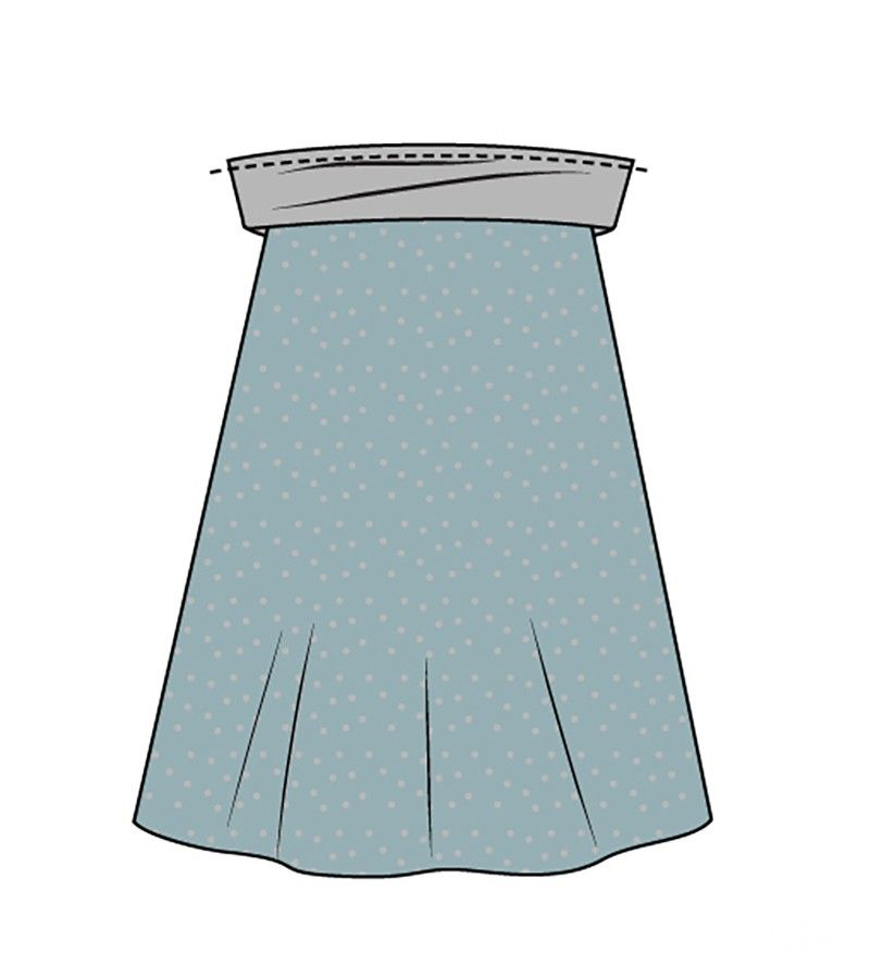 Photo of free sewing instructions – sew a full skirt without a pattern
