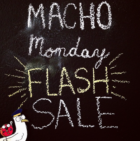 MACHO MONDAY FLASH SALE! Buy 1 get 1 50% off. Just enter MACHOMONDAY at checkout for the discount.