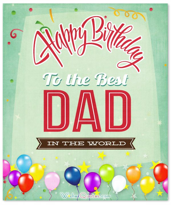 Card With Birthday Wishes For Father