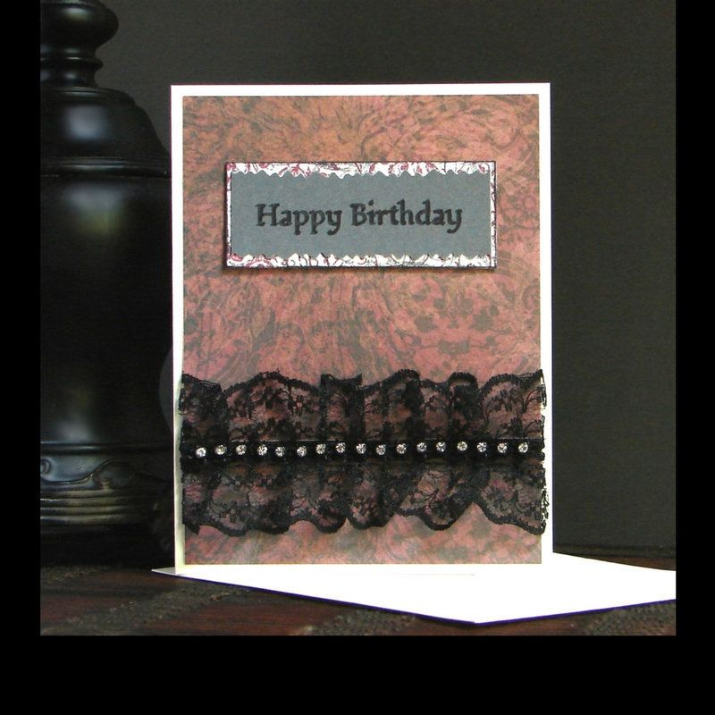 Elegant Gothic Birthday Card With Lace Accents Click For A Closer Look Gothic Birthdaycar Cute Birthday Cards Happy Birthday Gothic Handmade Birthday Cards