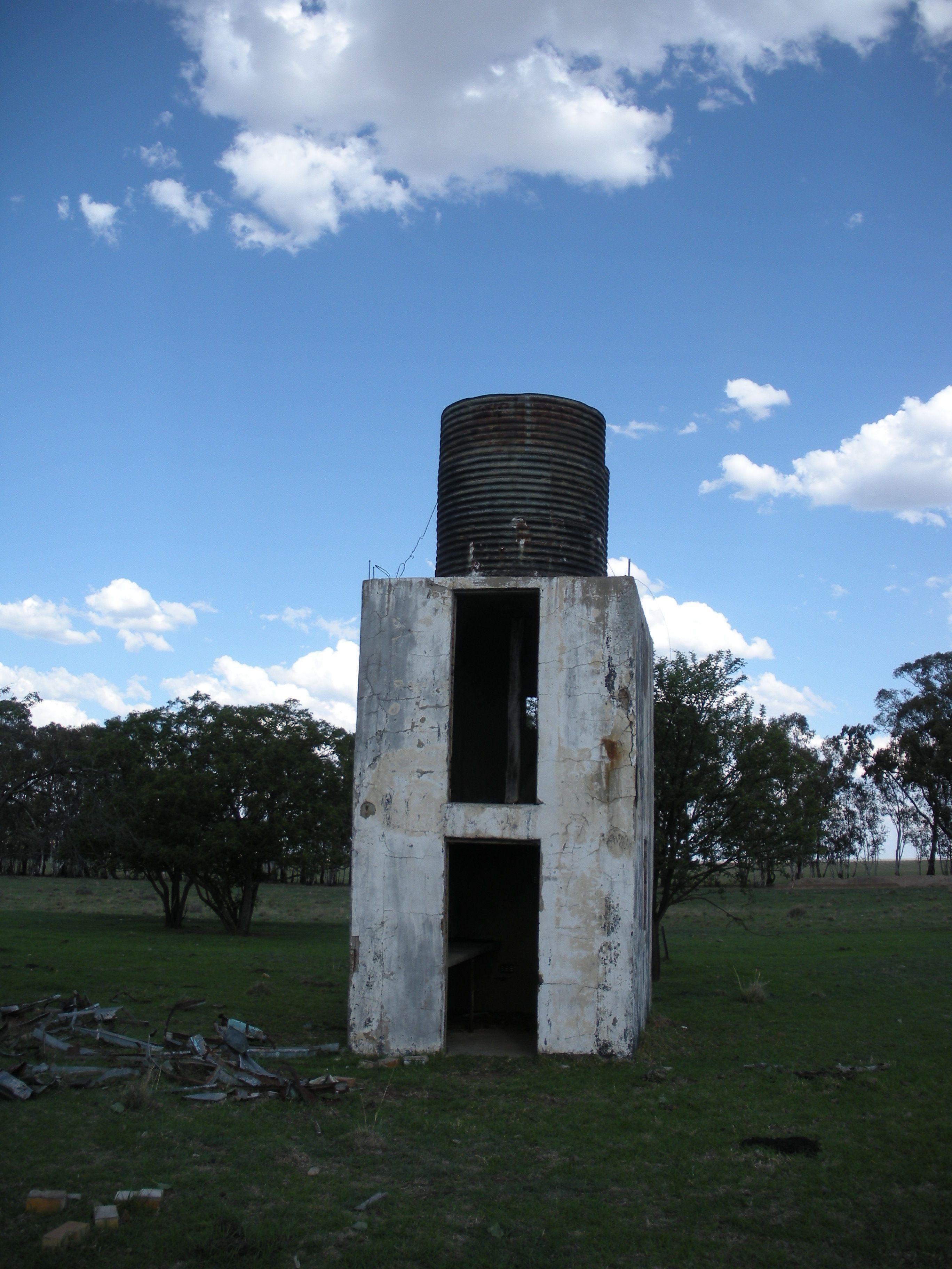 Abandoned water tank house on a friend's farm, Parys