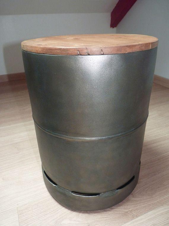 tabouret meuble d 39 appoint en bouteille de gaz recycl e meubles et rangements par vincedgg. Black Bedroom Furniture Sets. Home Design Ideas