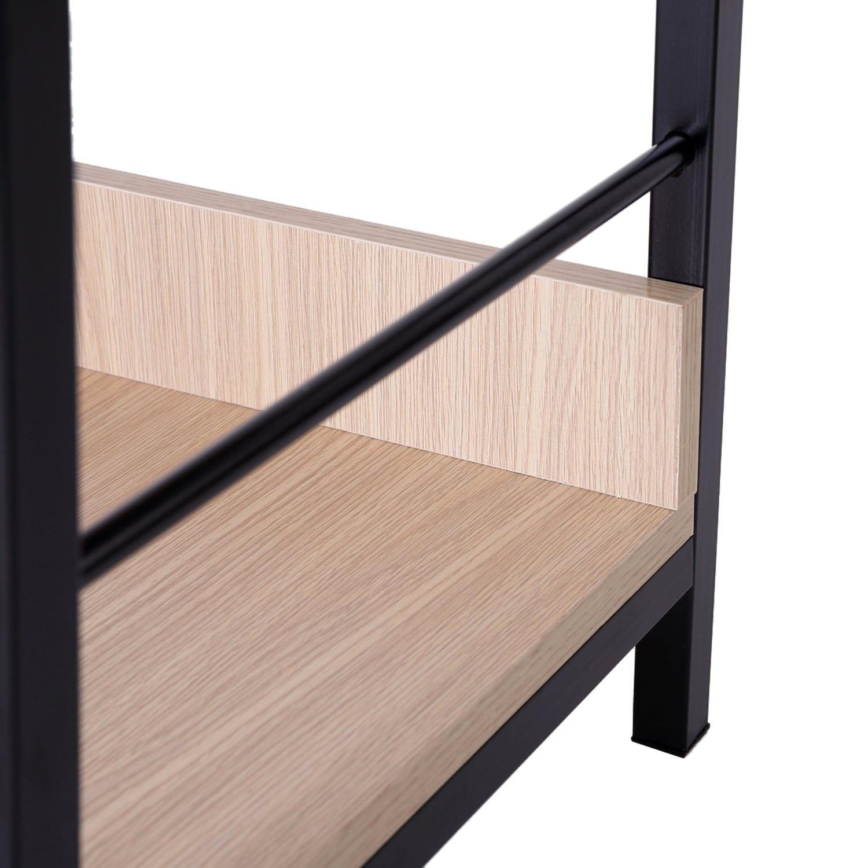 Homcom shelf modern ladder bookcase brown ladder bookcase