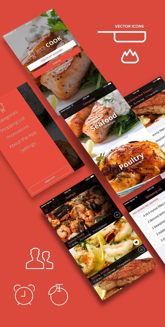 Lets cook cooking recipe app design concept psds on behance lets cook cooking recipe app design concept psds on behance forumfinder Images