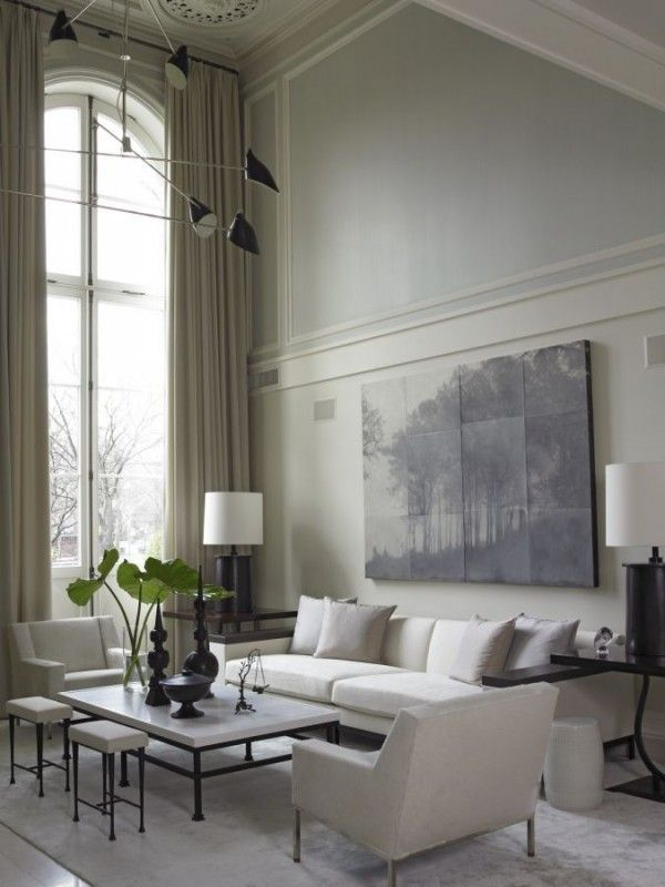 Large Window Treatments Living Rooms Traditional Homes