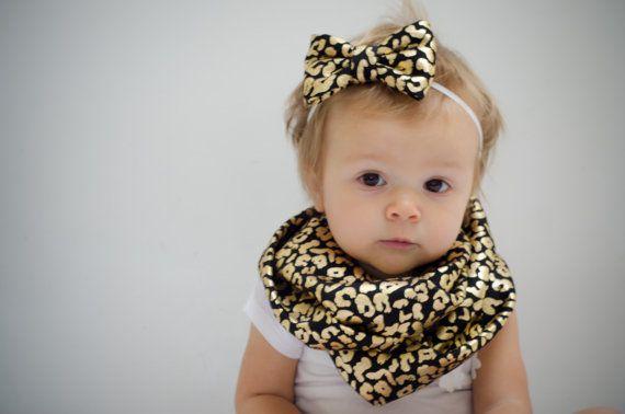 Bow headband and infinity scarf