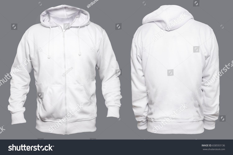 Download Blank Sweatshirt Mock Up Template Front And Back View Isolated On Grey Plain White Hoodie Mockup Hoody Design Pr Hoodie Template Blank Sweatshirts Hoodies