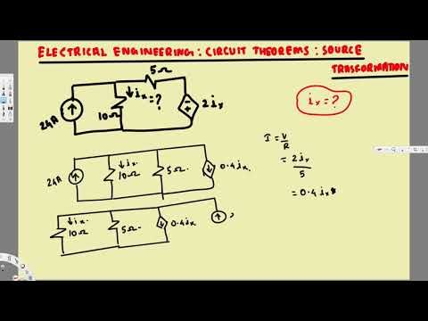 Electrical Engineering  Circuit Theorems  Source Transformation #4 - electrical engineering excel spreadsheets