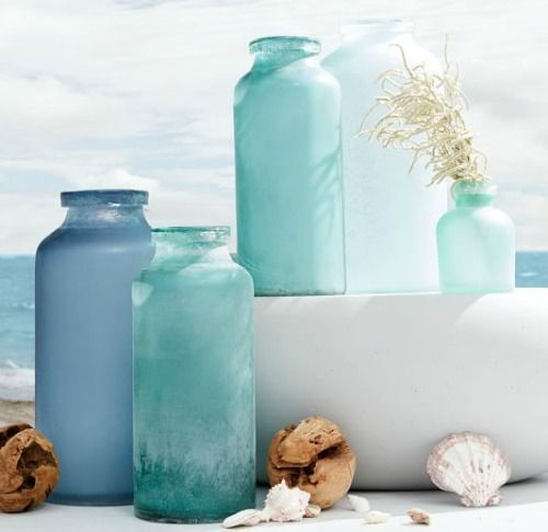 How To Bring Summer Vibes Into Your Home 6 Color Ideas: Sea Glass Paint -Spray Or Brush To Give Bottles, Vases