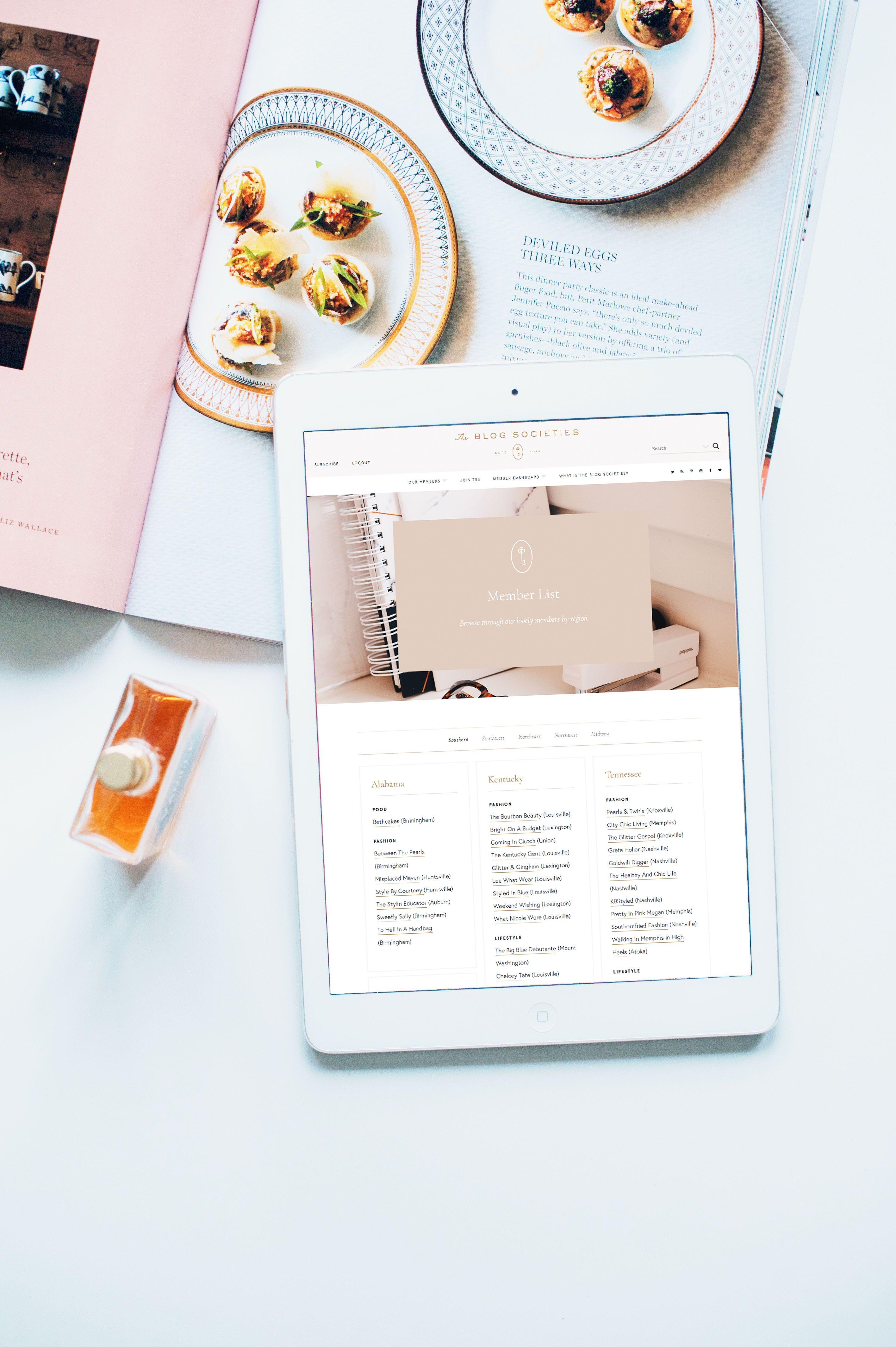 Brand Web Design For The Blog Societies By Wayfarer Design Studio Design Branding Br Shopify Website Design Wordpress Website Design Wordpress Web Design