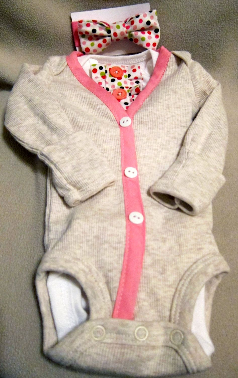 67c27090a0b7 Baby Girl Cardigan Outfit Cream Pink Cardigan by KraftsbyKizzy ...