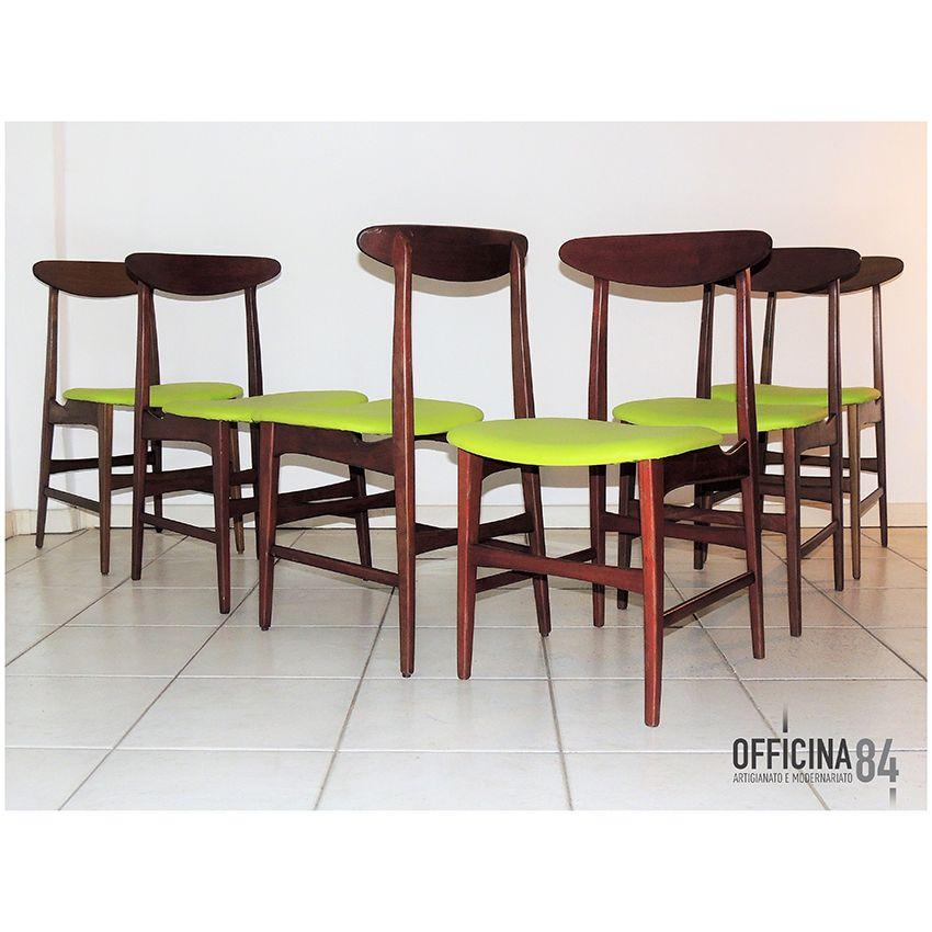 6 sedie danesi anni '60 #officina84 #milano #via padova #via ... - Sedie Vintage Anni 60