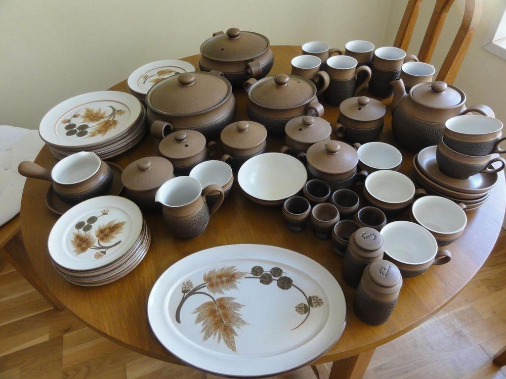 Denby Cotswold dinner service Plates bowls Tureens Cups Saucers Teapot Soup