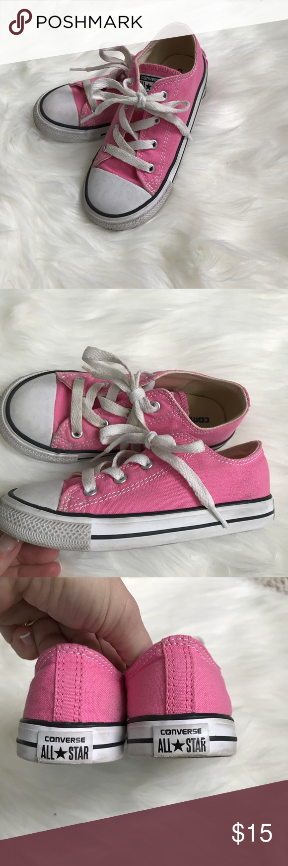 1c3e70547220 Converse kids pink size 10 These are little girls toddler converse tennis  shoes Size 10.