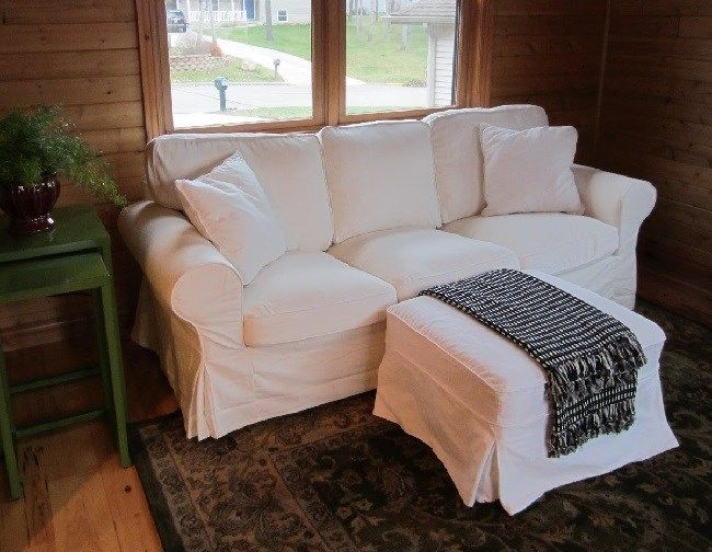 White Twill Slipcover Made For Pottery Barn Pb Basic Sofa