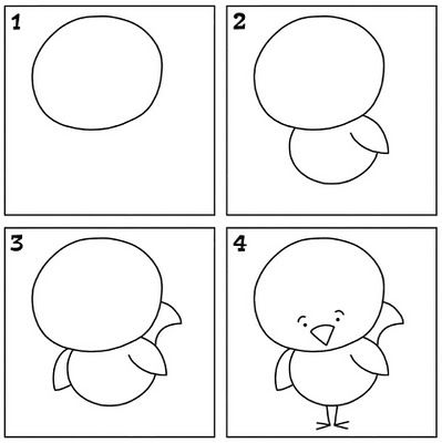 Kids can learn how to draw with i can draw printable for Learn to draw simple things
