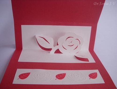 Diy paper diy craft diy easel card with kirigami pop up card diy paper diy craft diy easel card with kirigami pop up card instructions m4hsunfo