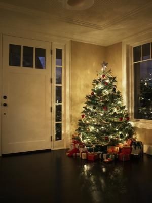 Christmas Lights Whether All White Or A Variety Of Colors Add Distinctive Glow Around Door And Window