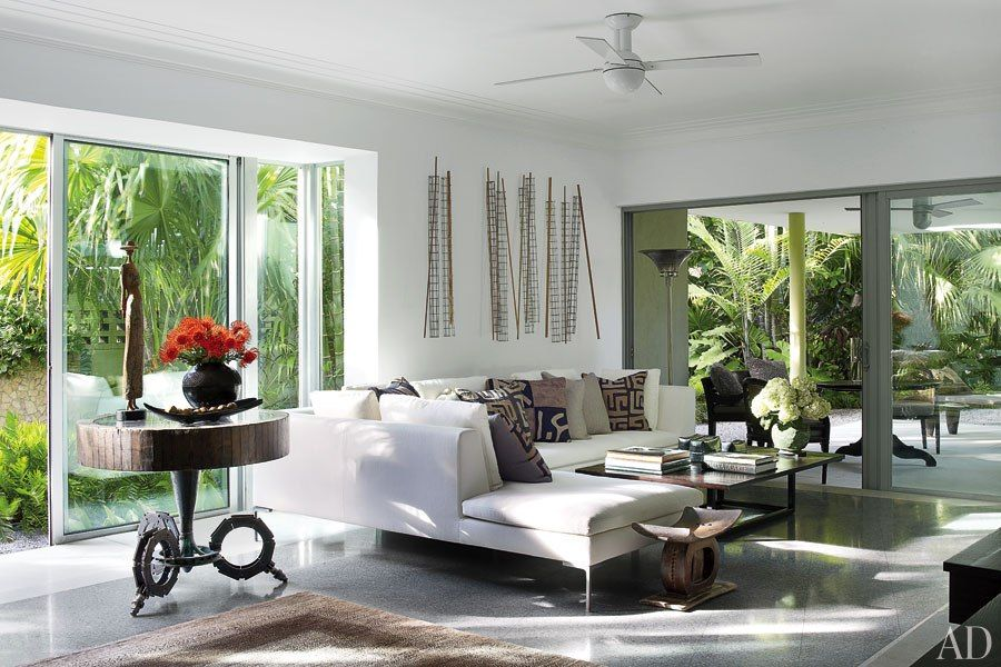 living room sets naples fl curtains ideas sheer judy blume s tropical indoor outdoor residence in florida home key west getaway architectural digest
