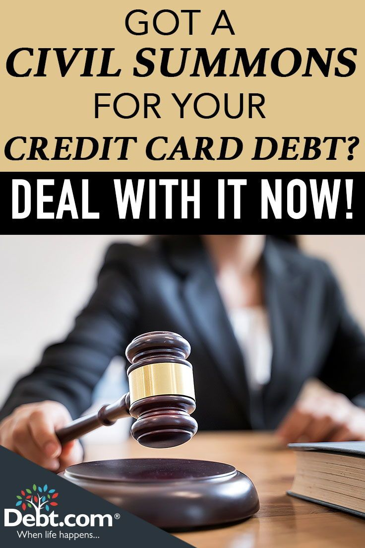 How to Answer a Civil Summons for Credit Card Debt