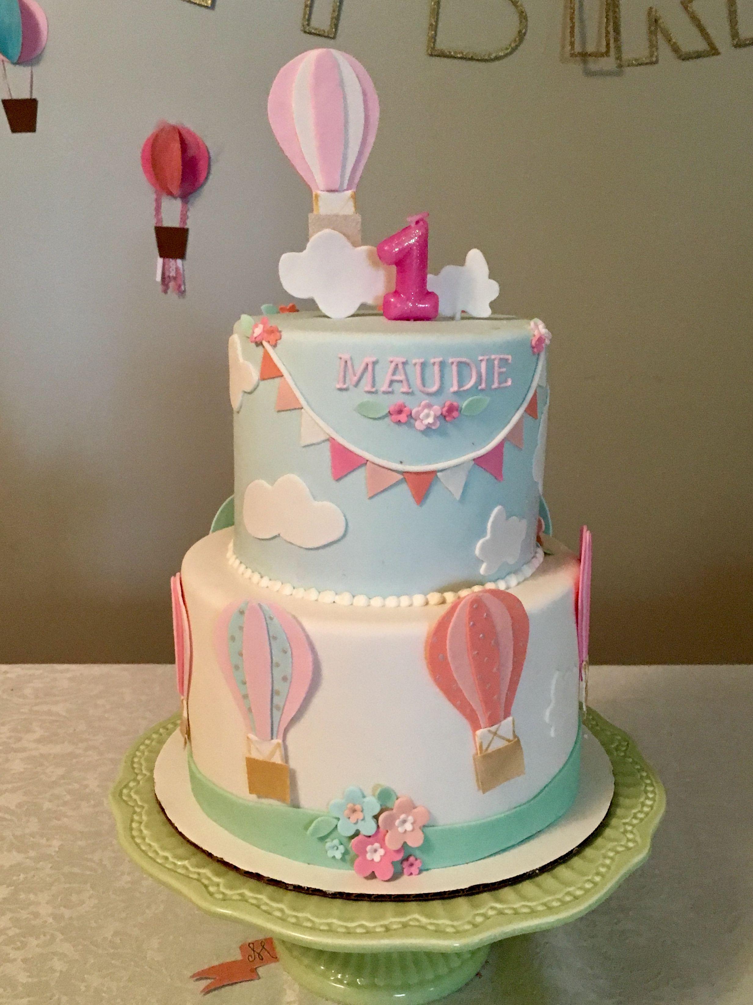 1st Birthday Hot Air Balloon Cake B 225 Nh In 2019
