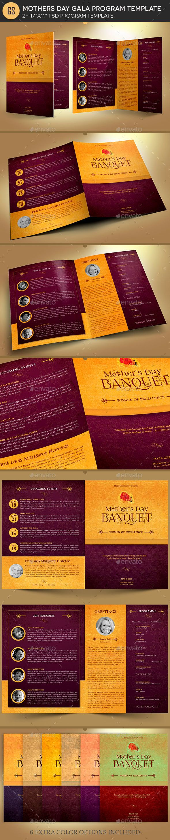 mothers day gala program template informational brochures