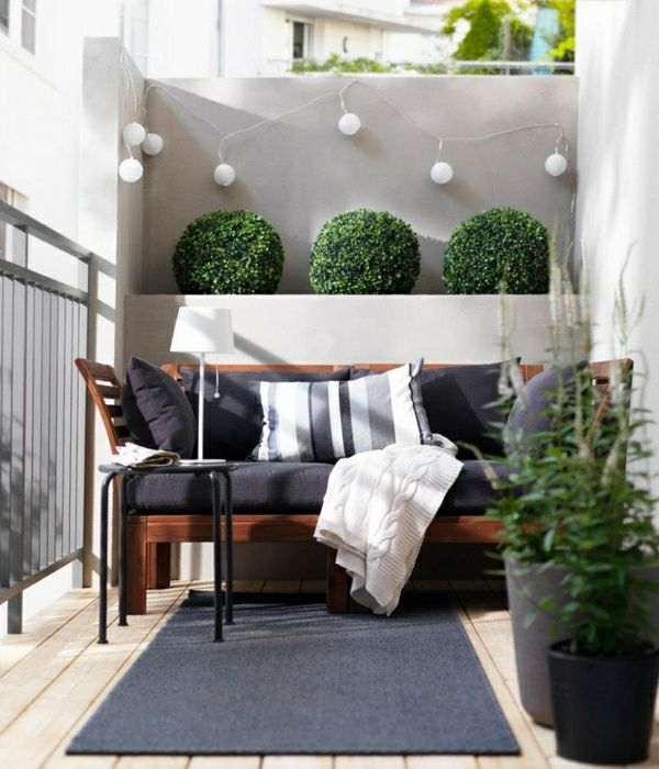 Minimaliste plante amenagement balcon jardin - Decoration balcon terrasse appartement ...