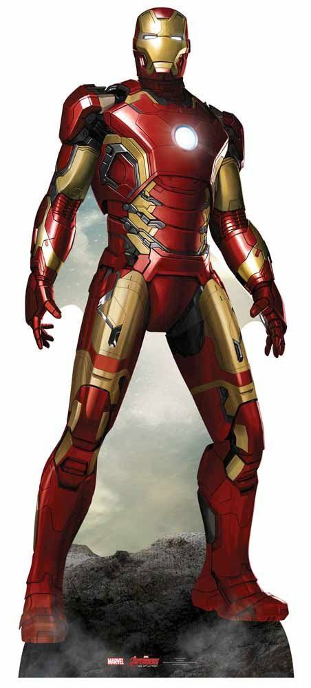5b5b31e667ee5a The Avengers - Iron Man Pappaufsteller Standy - ca. 193 cm: Amazon ...