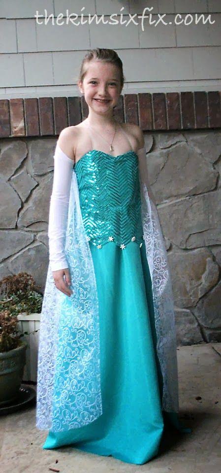 DIY Elsa Dress (From Frozen)   Pinterest