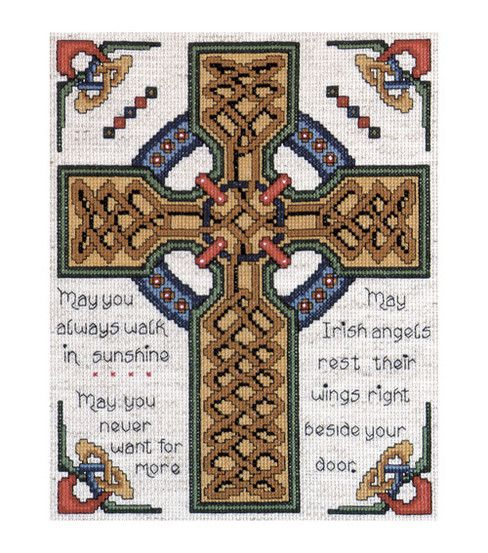 Celtic Cross 8 by 10 Inches Tobin Counted Cross Stitch